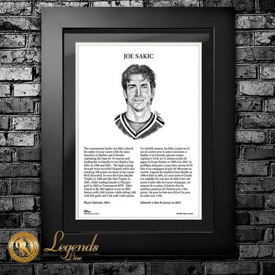 2012 Joe Sakic - NHL Legends 12x16 Frame