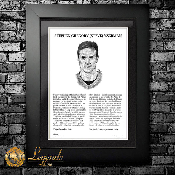 2009 Steve Yzerman - Legends 12x16 Frame