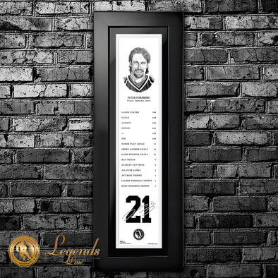 2014 Peter Forsberg - NHL Legends  6x22 Frame