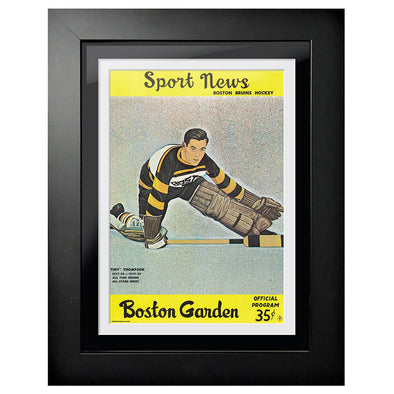 Boston Bruins Program Cover - Sport News Goalie Stretch
