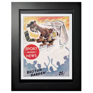 Boston Bruins Program Cover - Sports Hockey News Bear in Net