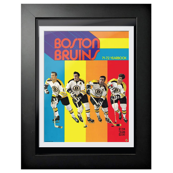 Boston Bruins Program Cover - Boston Bruins 1971 Rainbow Yearbook
