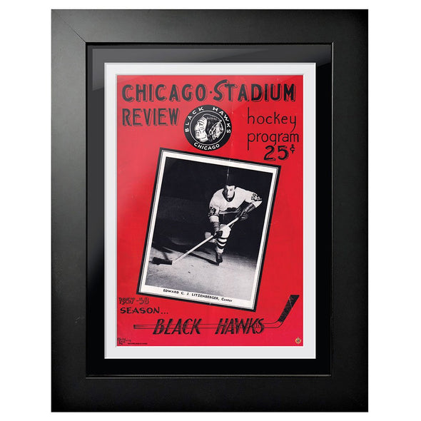 Chicago Blackhawks Program Cover - Chicago Stadium Review 1957