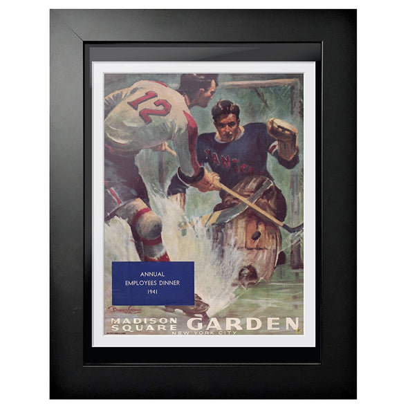New York Rangers Program Cover - Madison Square Garden Pad Shot