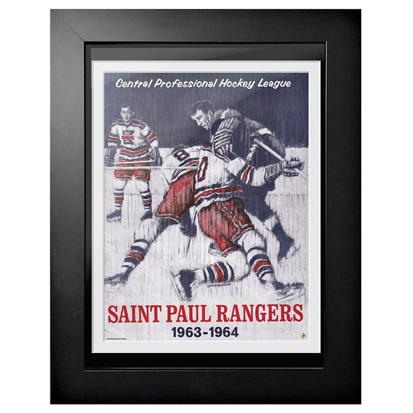 New York Rangers Program Cover - Saint Paul Rangers 3 on 1