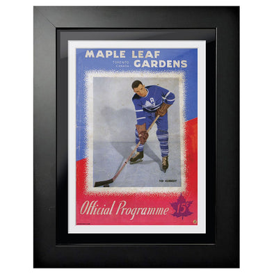 Toronto Maple Leafs Program Cover - Maple Leaf Gardens Red White and Blue Edition 1