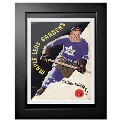 Toronto Maple Leafs Program Cover - Maple Leaf Gardens Black and White Pop