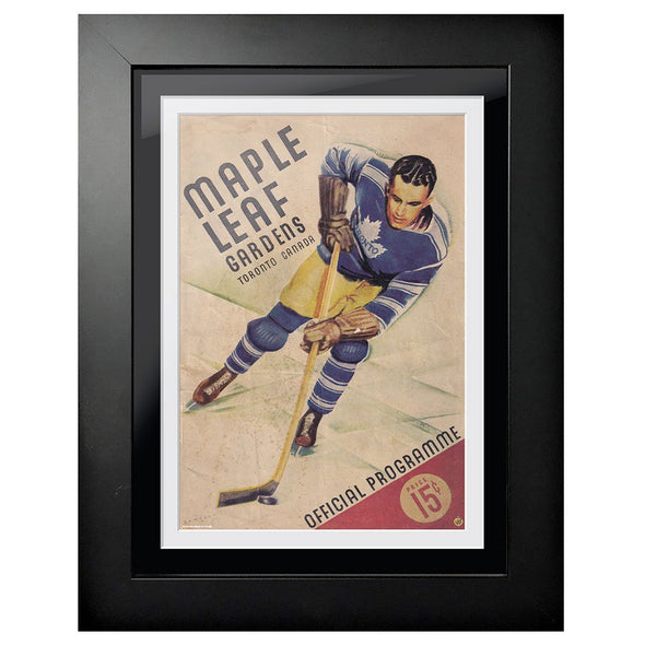 Toronto Maple Leafs Program Cover - Maple Leaf Gardens Stick Handle