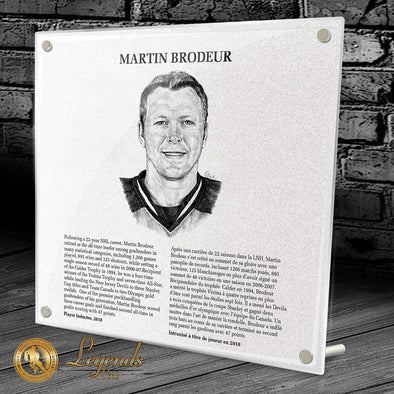 2018 Martin Brodeur - NHL Legends Plaque