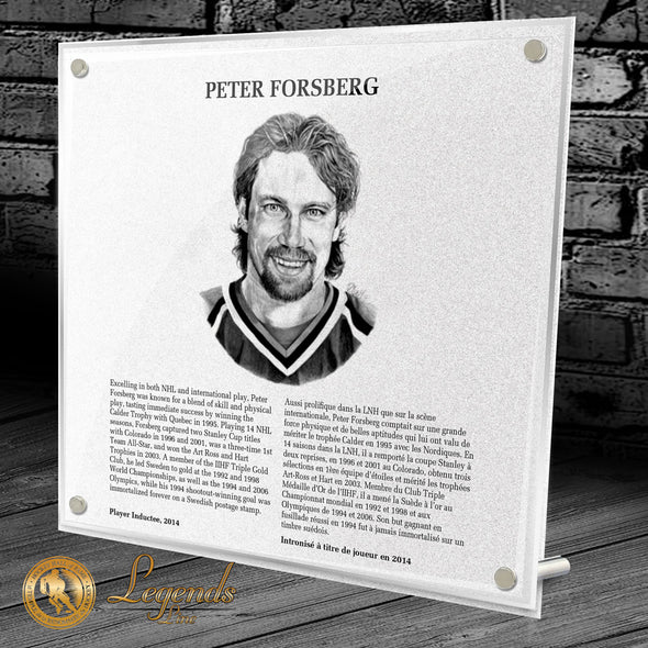 2014 Peter Forsberg - Legends Plaque