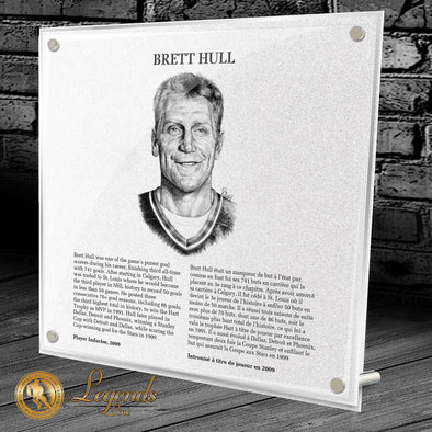 2009 Brett Hull - NHL Legends Plaque