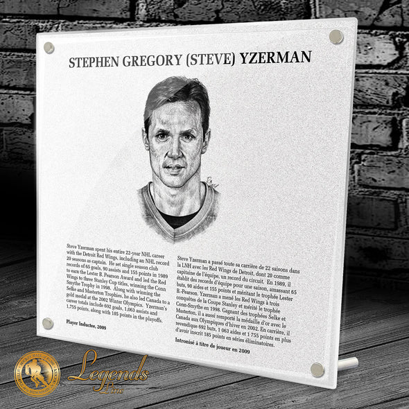 2009 Steve Yzerman - NHL Legends Plaque