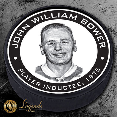 1976 Johnny Bower - NHL Legends Textured Puck