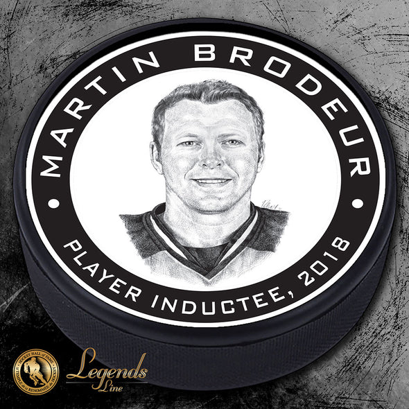 2018 Martin Brodeur -  Legends Textured Puck