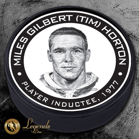 1977 Tim Horton - Legends Textured Puck