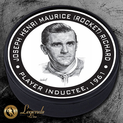 "1961 Maurice ""Rocket"" Richard - Legends Textured Puck"