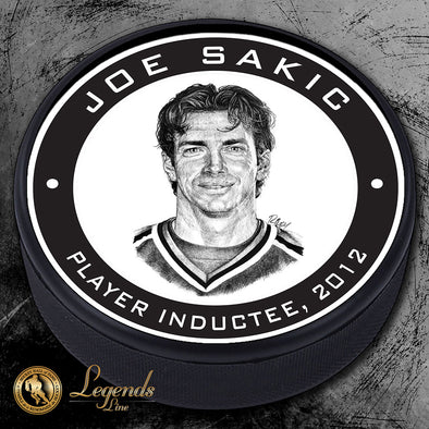 2012 Joe Sakic - NHL Legends Textured Puck