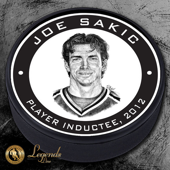 2012 Joe Sakic - Legends Textured Puck