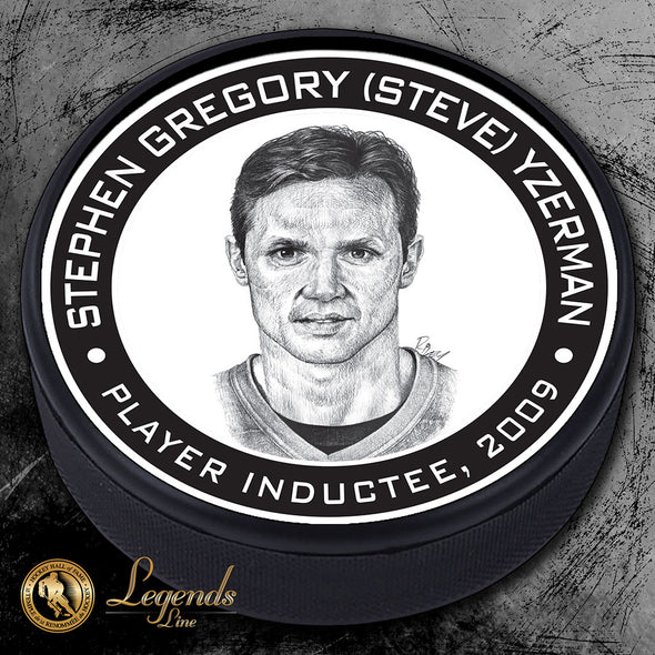 2009 Steve Yzerman - Legends Textured Puck