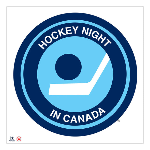 Hockey Night in Canada 36x36 Vintage Logo Repositional Wall Decal