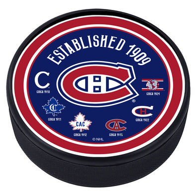 Montreal Canadiens Heritage Textured Puck