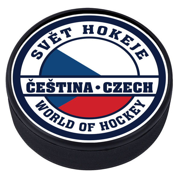 World of Hockey Textured Puck - Czech Republic