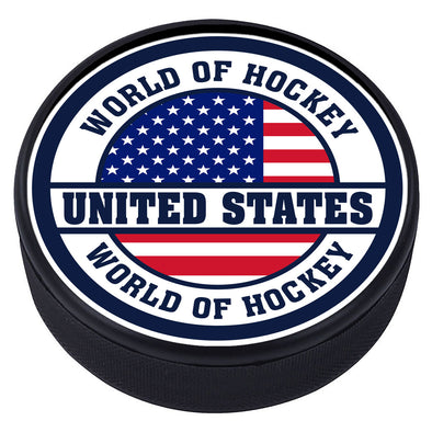 World of Hockey Textured Puck - United States of America