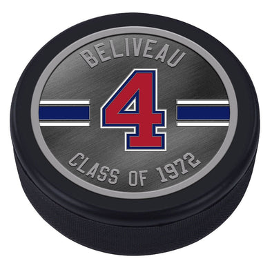 NHLAL Montreal Canadiens Icon Medallion Souvenir Puck - Beliveau