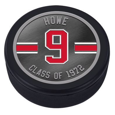 NHLAL Detroit Red Wings Icon Medallion Souvenir Puck - Howe