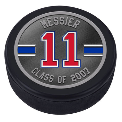 NHLAL New York Rangers Icon Medallion Souvenir Puck - Messier