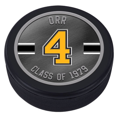 NHLAL Boston Bruins Icon Medallion Souvenir Puck - Orr