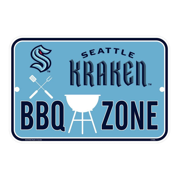 Seattle Kraken BBQ Sign