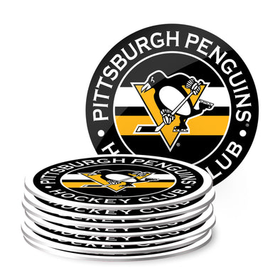 Pittsburgh Penguins Eight Pack Coaster Set