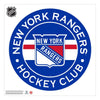 New York Rangers 36x36 Team Reposistional Wall Vinyl Stripe Design