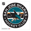 San Jose Sharks 36x36 Team Reposistional Wall Vinyl Stripe Design