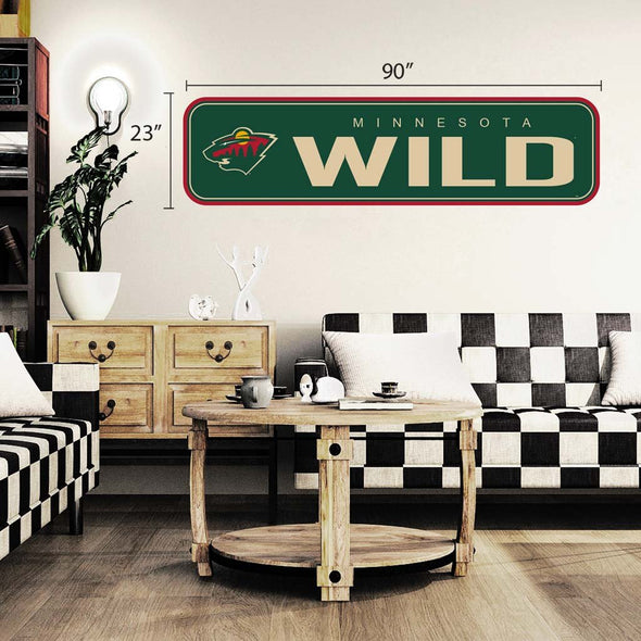 Minnesota Wild - 90x23 Team Repositional Wall Decal - Long Design