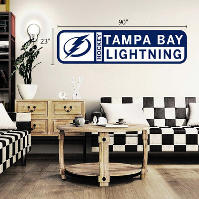 Tampa Bay Lightning 90x23 Team Reposistional Wall Vinyl