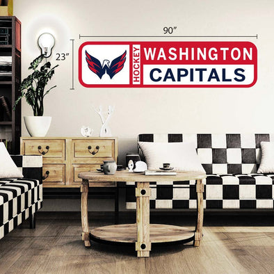Washington Capitals  90x23 Team Reposistional Wall Vinyl