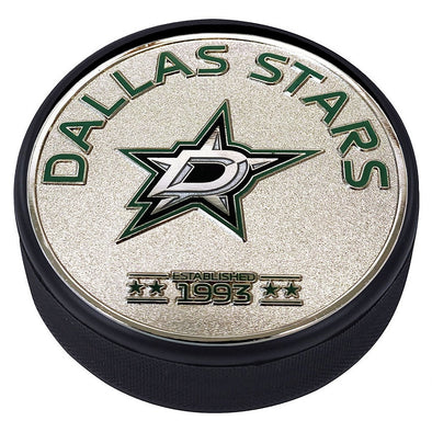 Medallion Puck - Dallas Stars Silver Established