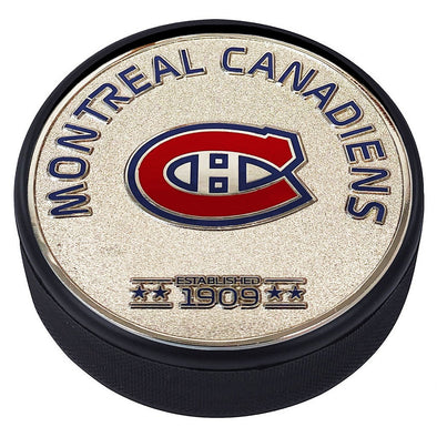 Medallion Puck - Montreal Canadiens Silver Established