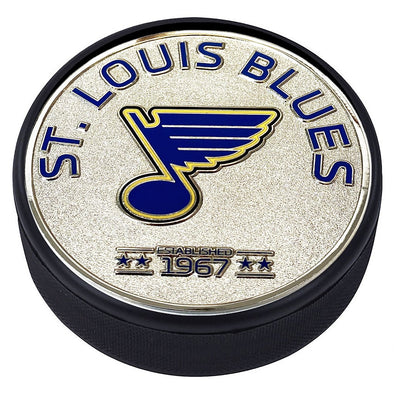 Medallion Puck - St. Louis Blues Silver Established