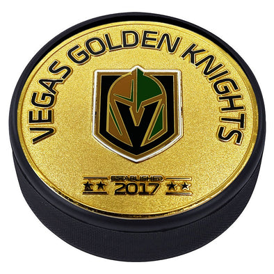 Medallion Puck - Vegas Golden Knights  Gold Established