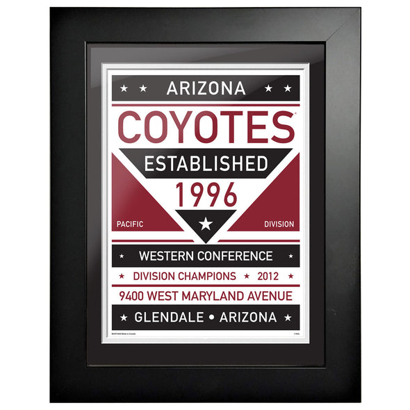 Arizona Coyotes 12 x 16 Dual Tone Framed Sign
