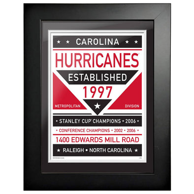 Carolina Hurricanes 12 x 16 Dual Tone Framed Sign
