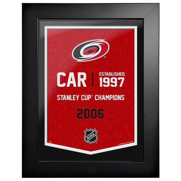 Carolina Hurricanes 12 x 16 Empire Framed Sign