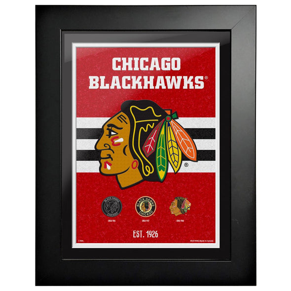 Chicago Blackhawks 12 x 16 Tradition Framed Sign