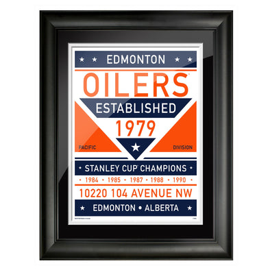 Edmonton Oilers 12x14 Repositional Wall Decal Pack