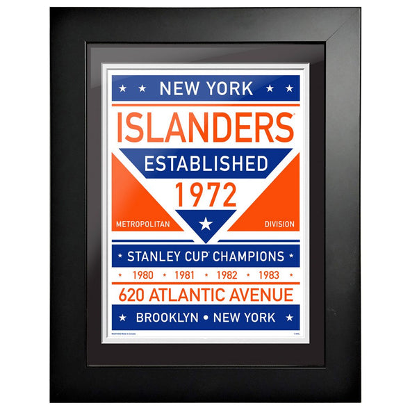 New York Islanders 12 x 16 Dual Tone Framed Sign