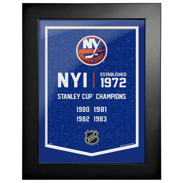New York Islanders 12 x 16 Empire Framed Sign