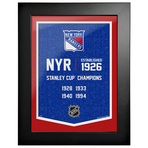 New York Rangers 12 x 16 Empire Framed Sign